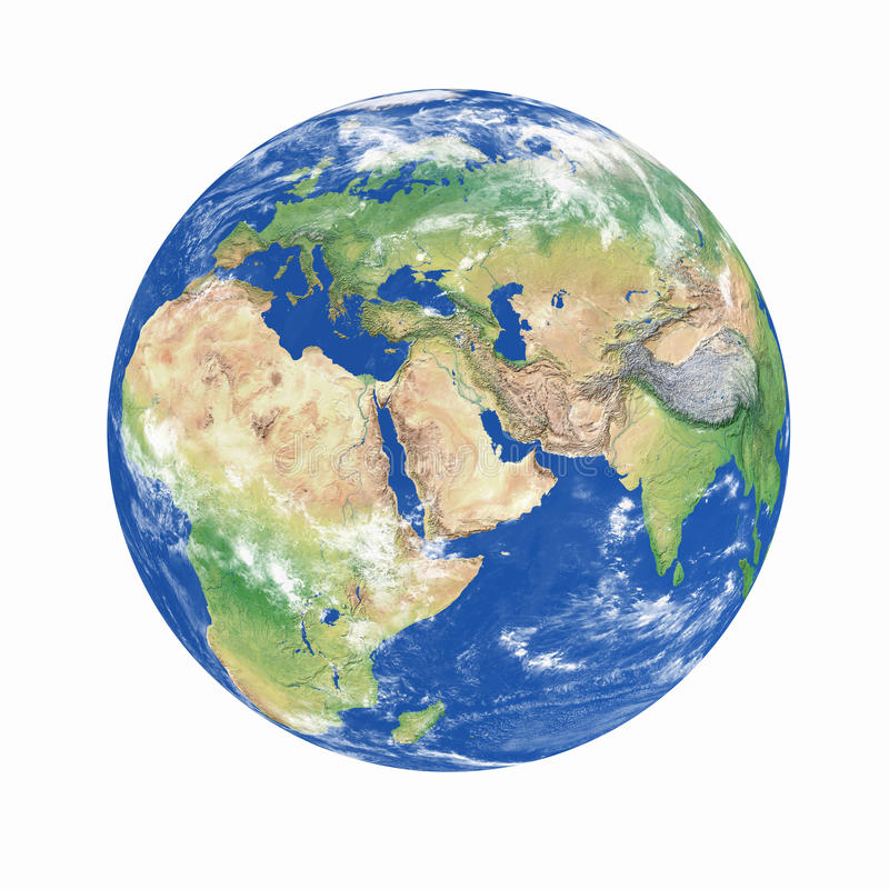 Het model van de aarde royalty-vrije stock fotografie