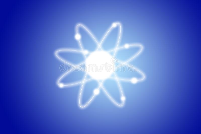 Het model van de atoomstructuur stock fotografie