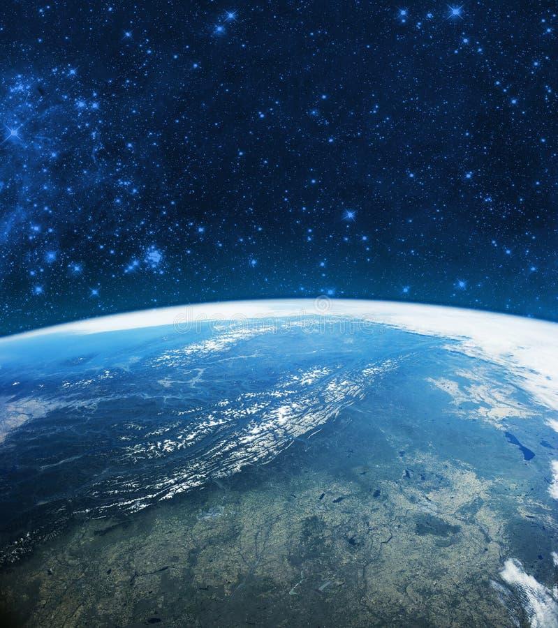 Het Model van de bolaarde in ruimte Elementen van beeld door NASA worden geleverd die stock foto
