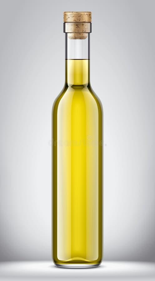 Het model van de glasfles Cork versie stock illustratie