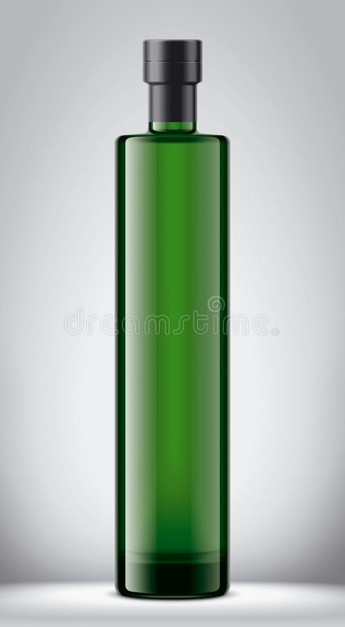 Het model van de glasfles Folieversie royalty-vrije illustratie