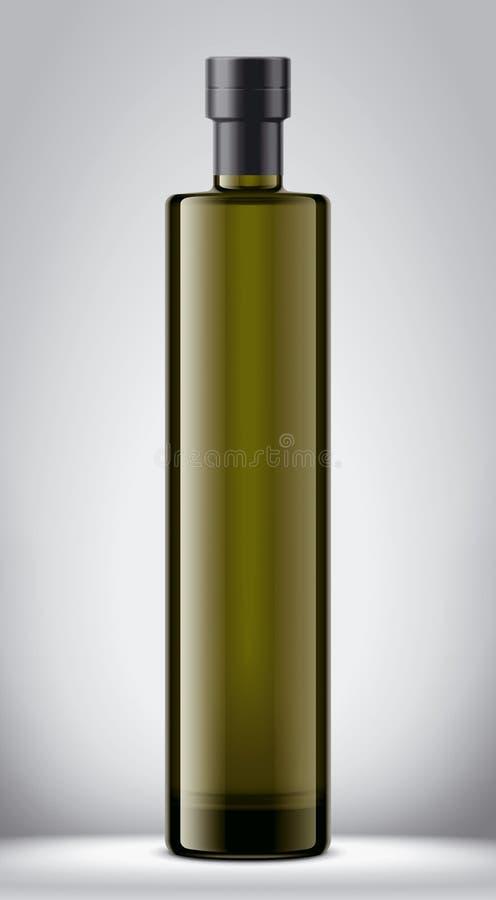 Het model van de glasfles Folieversie stock illustratie