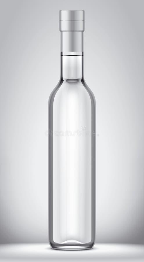 Het model van de glasfles stock illustratie