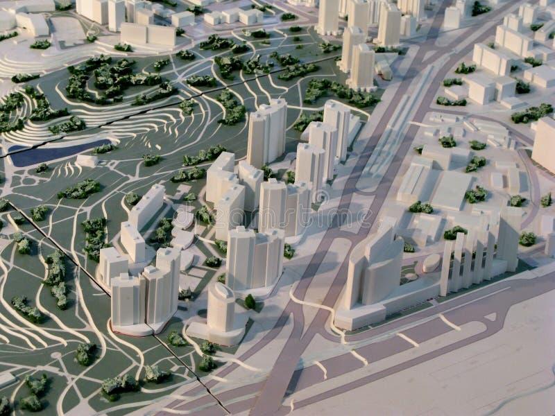 Het model van de stad stock foto
