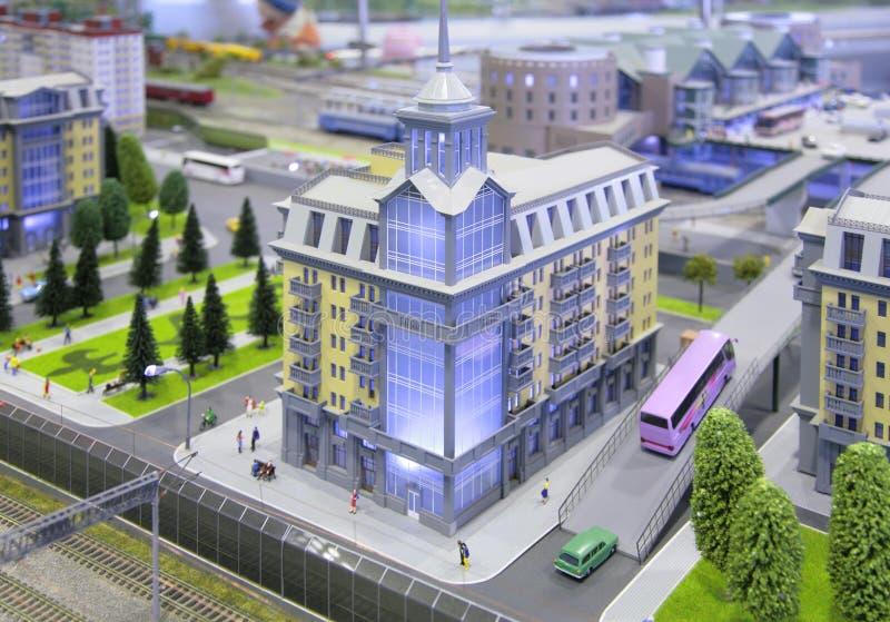 Het model van de stad royalty-vrije stock fotografie