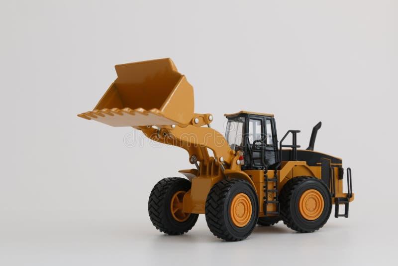 Het model van de wiellader stock afbeeldingen