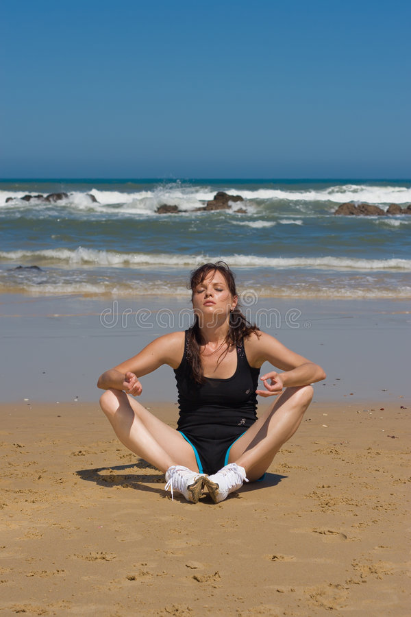 Het Model van de yoga royalty-vrije stock foto