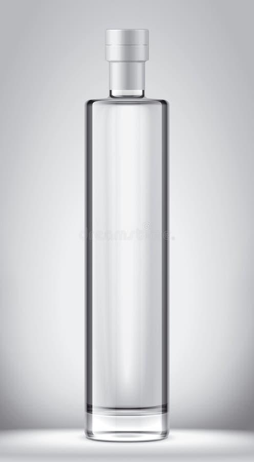 Het model van glasflessen Folieversie stock illustratie