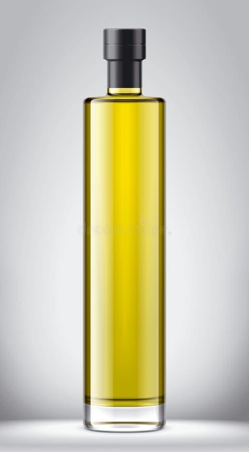 Het model van glasflessen voor olie Folieversie vector illustratie