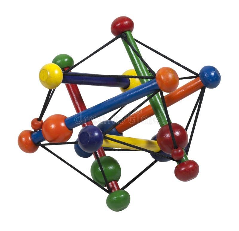 Het Model van het atoom stock afbeelding