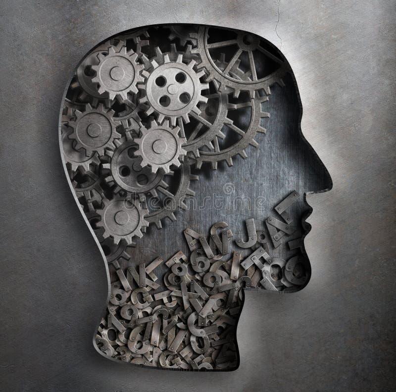 Het model van het hersenenwerk Het denken, psychologie stock foto's