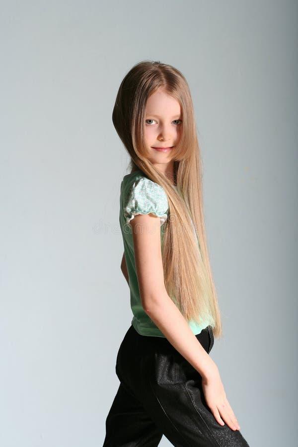Het model van het meisje stelt stock foto