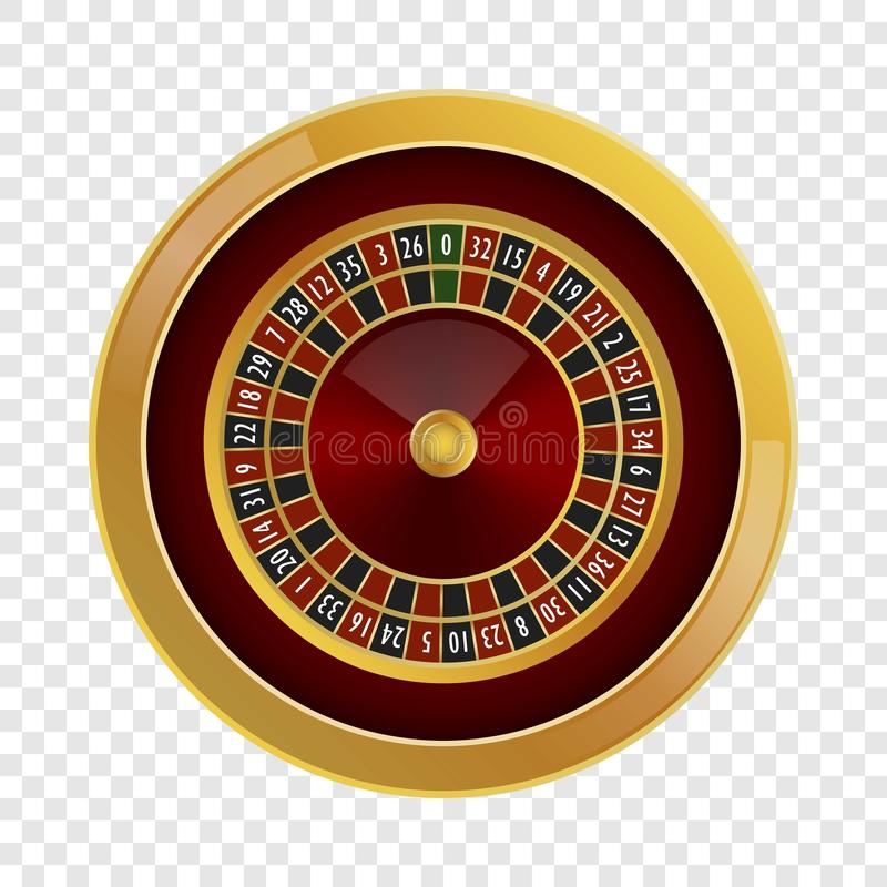 Het model van het roulettecasino, realistische stijl royalty-vrije illustratie