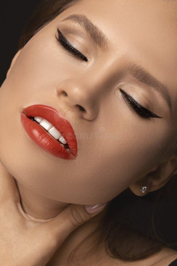 Het model van het schoonheidsportret royalty-vrije stock foto