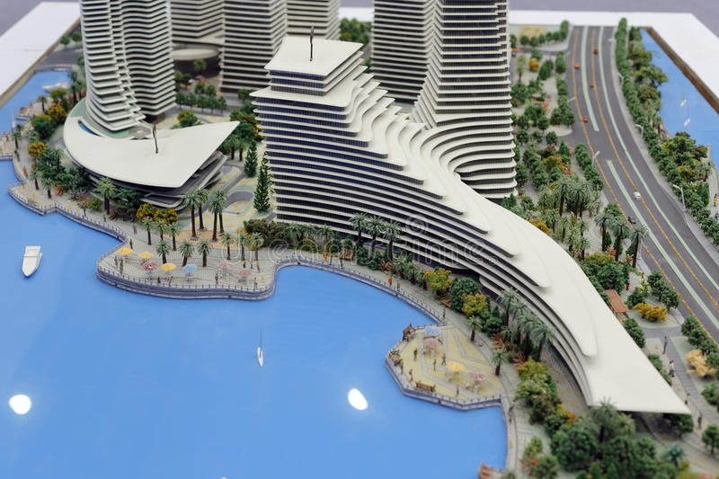 Het model van xiamen internationaal zuidoosten verschepend centrum royalty-vrije stock foto's