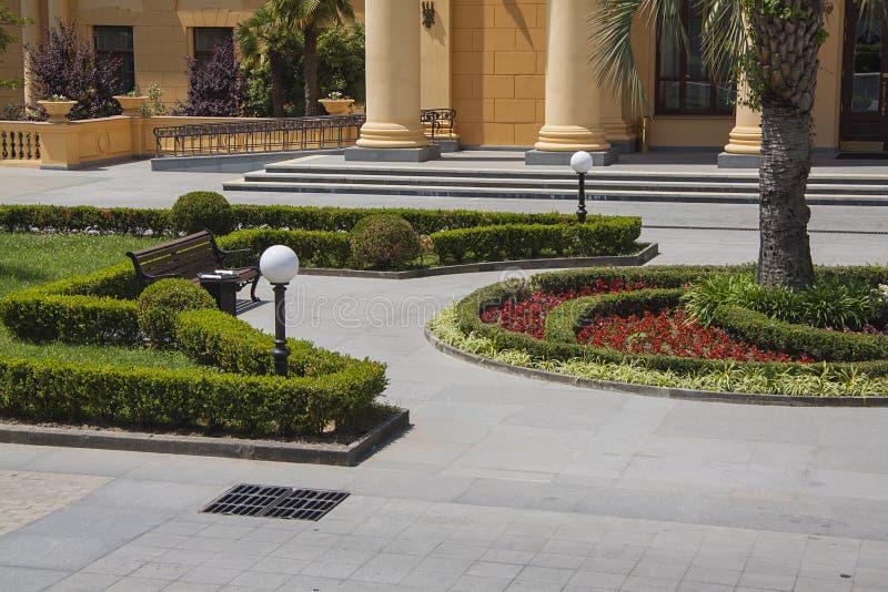 Het modelleren ontwerp voor mooie villa royalty-vrije stock afbeelding