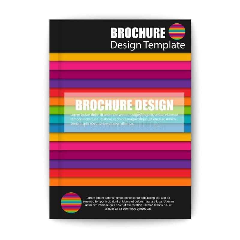 Het moderne abstracte malplaatje van het brochure vectorontwerp royalty-vrije illustratie