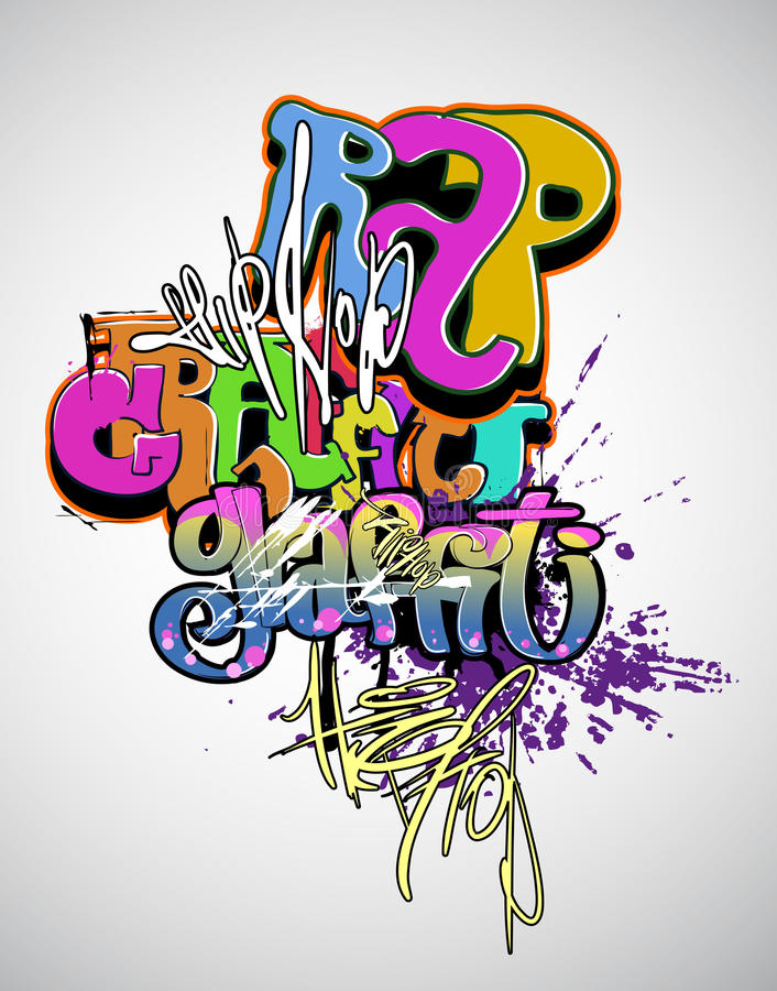Het moderne art. van Graffiti royalty-vrije illustratie