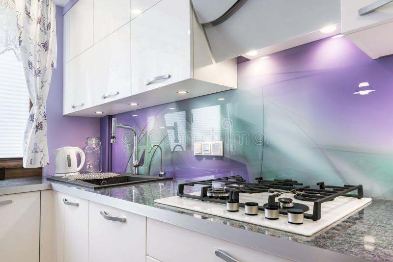 Het moderne Binnenlandse Ontwerp van de Keuken royalty-vrije stock afbeelding