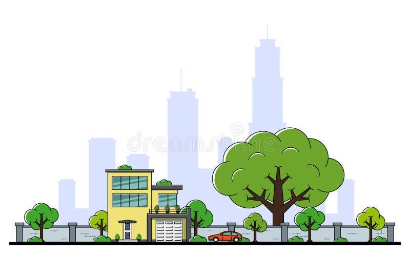 Het moderne Concept van het Huis stock illustratie