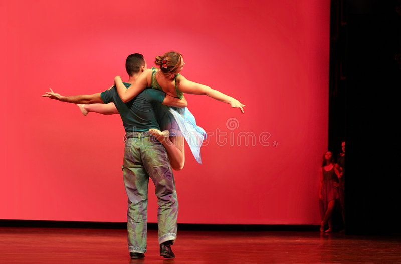 Het moderne dansen royalty-vrije stock fotografie