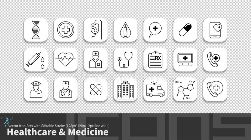 Het moderne die pictogram van de eenvoudlijn met editable slag wordt geplaatst royalty-vrije illustratie