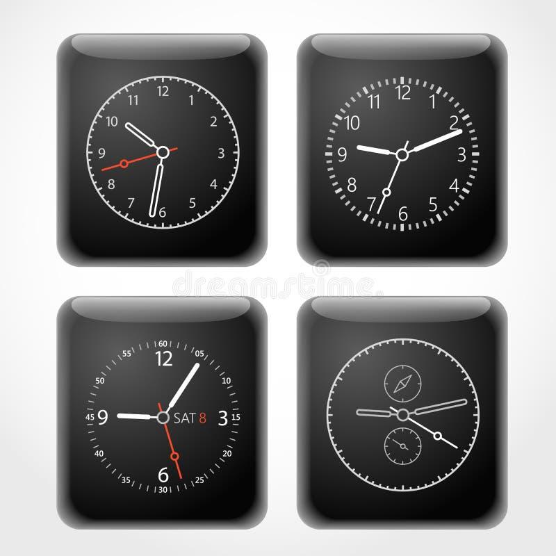 Het moderne digitale malplaatje van horlogewijzerplaten royalty-vrije illustratie