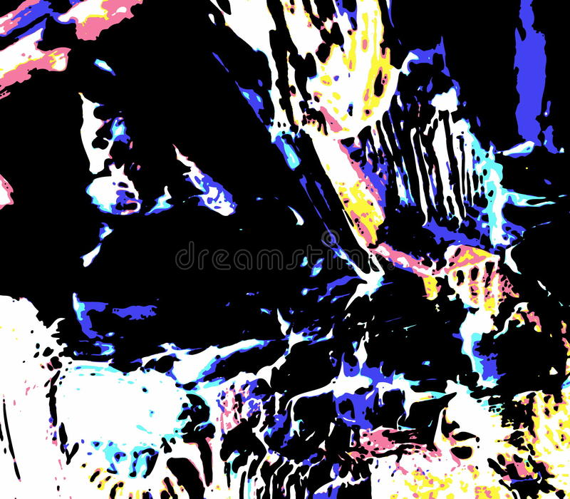 Het moderne digitale schilderen vector illustratie