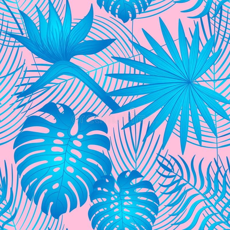 Het moderne heldere patroon van de zomerstrelitzia stock illustratie