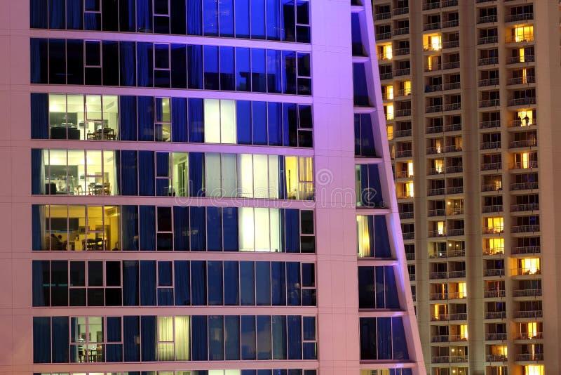 Het moderne high-rise flat leven royalty-vrije stock fotografie