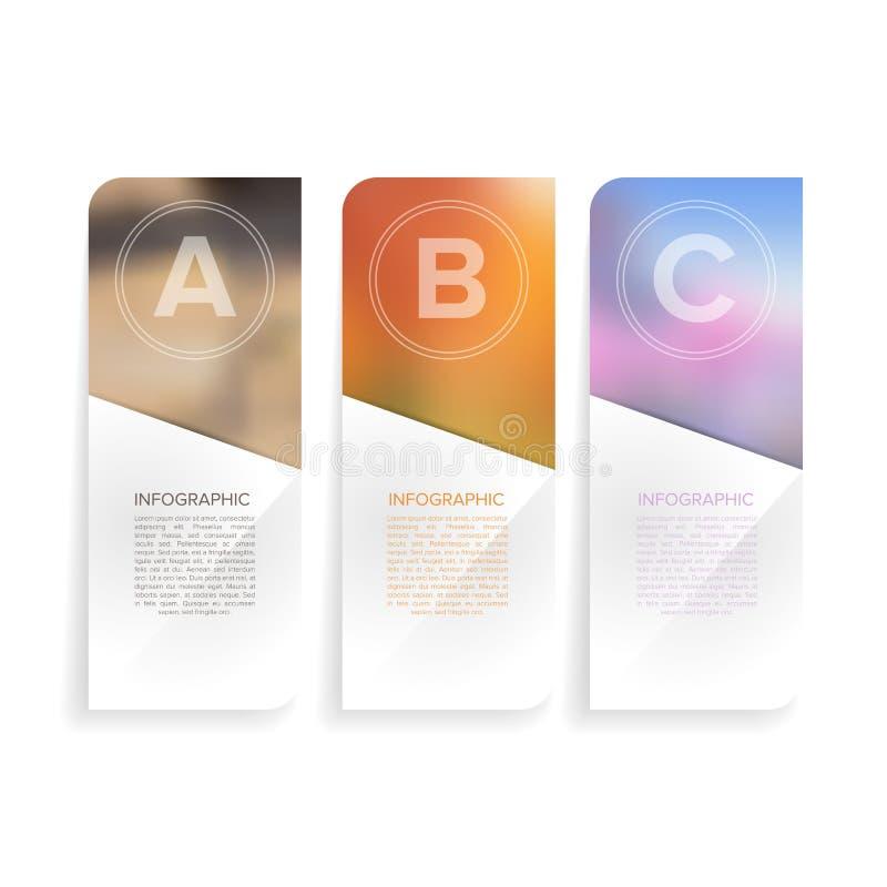 Het moderne infographic malplaatje van de Ontwerp Minimale stijl met alfabet royalty-vrije stock fotografie