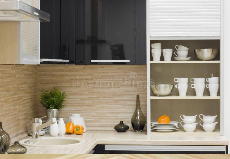 Het moderne keukendetail royalty-vrije stock fotografie