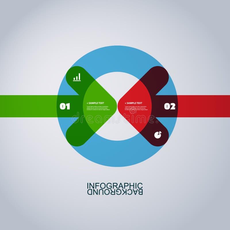 Het moderne Malplaatje Bedrijfs van Infographic dat van Abstracte Pijlvormen wordt gemaakt stock illustratie