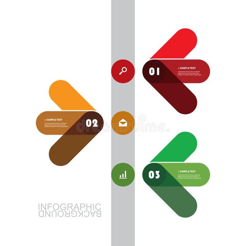 Het moderne Malplaatje Bedrijfs van Infographic - Minimaal Chronologieontwerp stock illustratie
