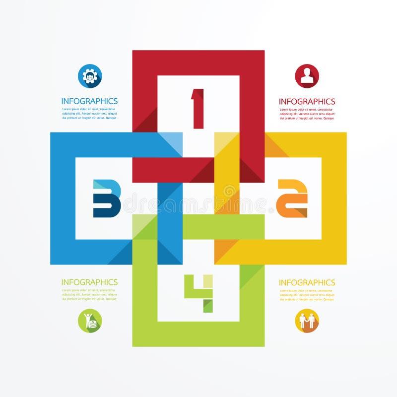 Het moderne malplaatje van de Ontwerp infographic cirkel royalty-vrije illustratie