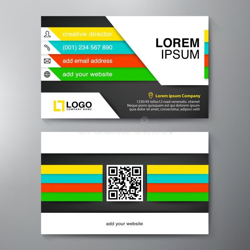 Het moderne Malplaatje van het Adreskaartjeontwerp vector illustratie
