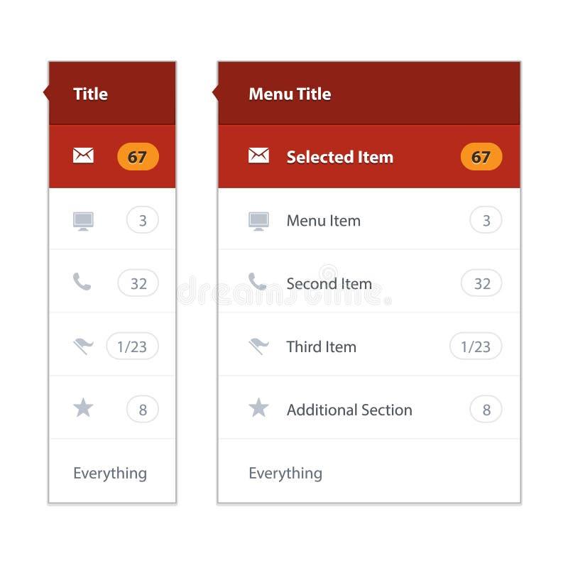 Het moderne malplaatje van het gebruikersinterfacescherm voor mobiel royalty-vrije illustratie