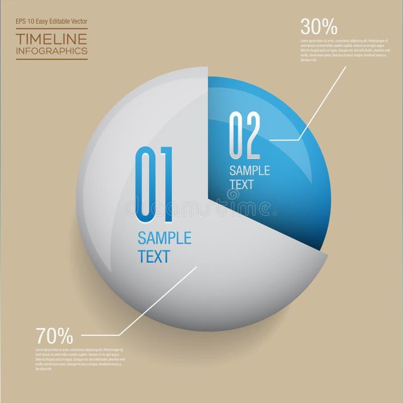 Het moderne malplaatje van het infographics vectorontwerp stock illustratie
