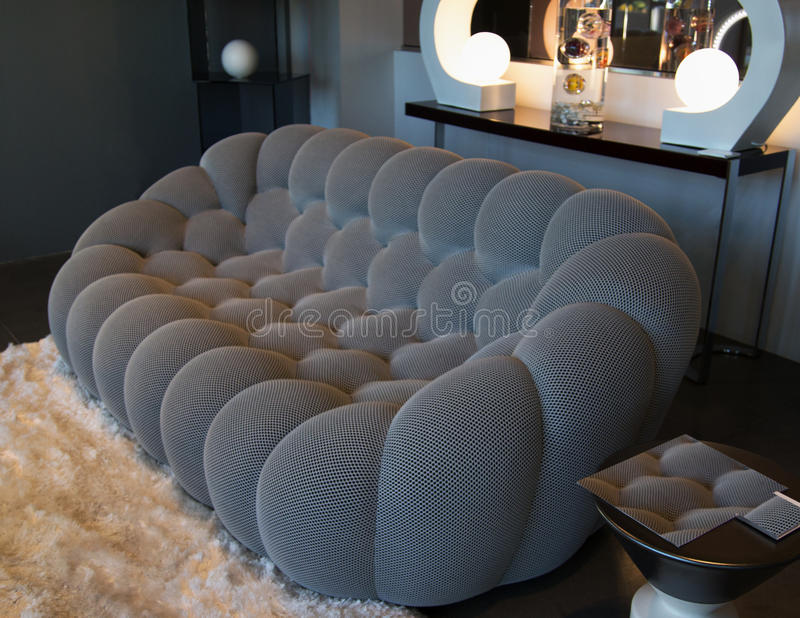Het moderne meubilair van de huiswoonkamer royalty-vrije stock afbeeldingen