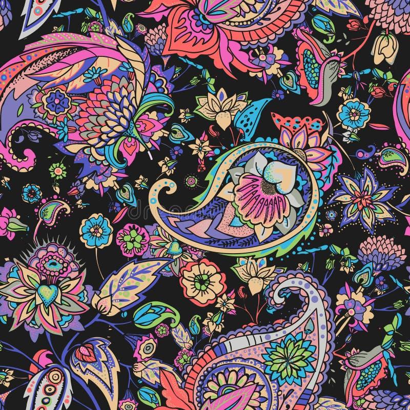 Het moderne naadloze patroon van Paisley Gebaseerd op de tradities van oosterse patronen royalty-vrije illustratie