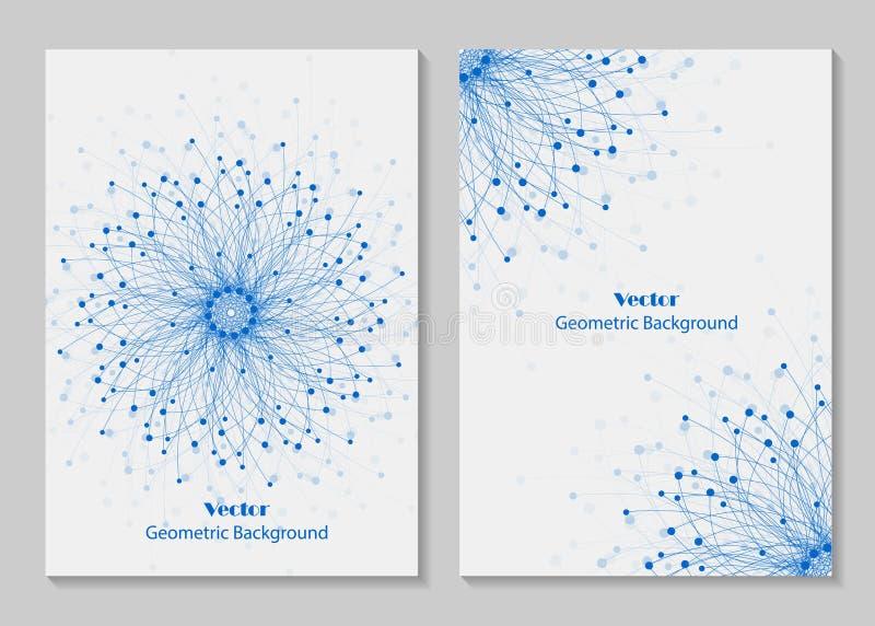 Het moderne ontwerp van de brochuredekking vector illustratie