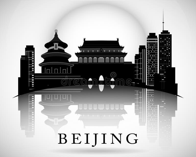 Het moderne Ontwerp van de de Stadshorizon van Peking vector illustratie
