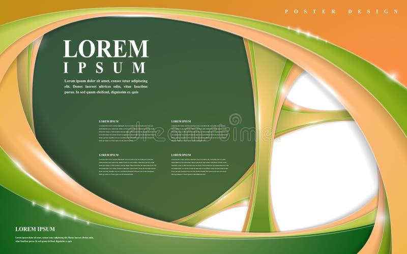 Het moderne ontwerp van het affichemalplaatje vector illustratie