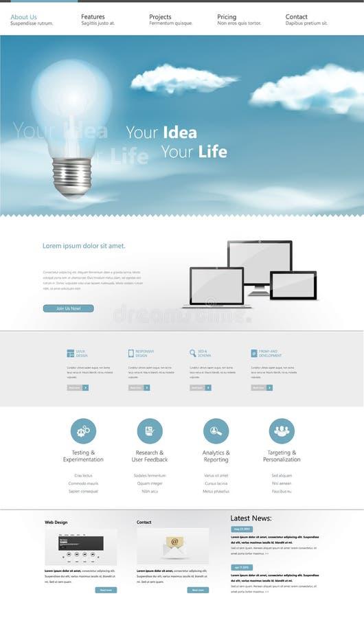 Het moderne Ontwerp van het Bedrijfswebsitemalplaatje vector illustratie