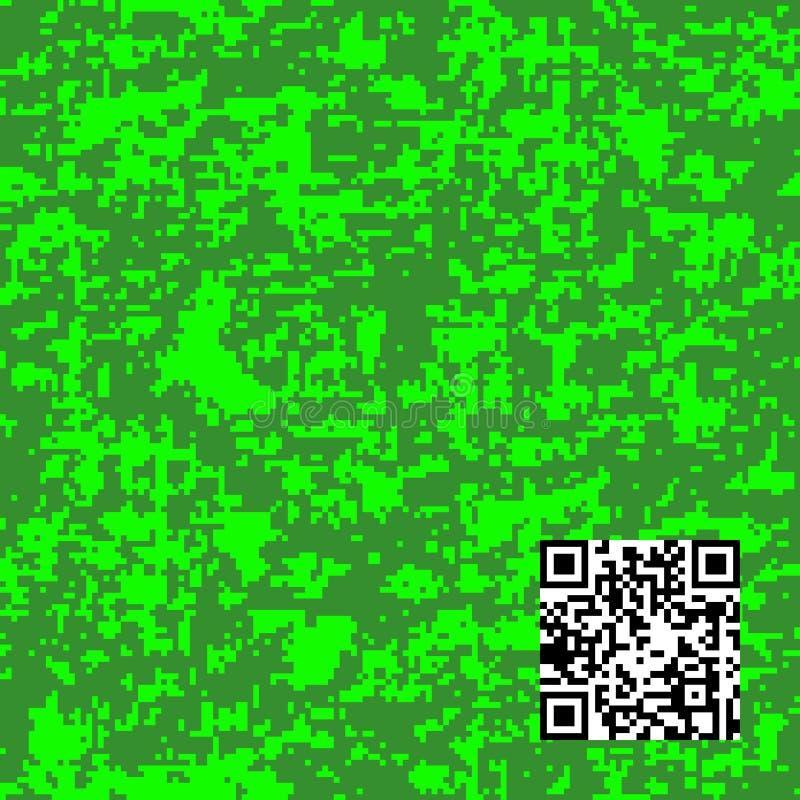 Het moderne patroon van manier vector in camo Digitaal camouflage naadloos patroon royalty-vrije illustratie