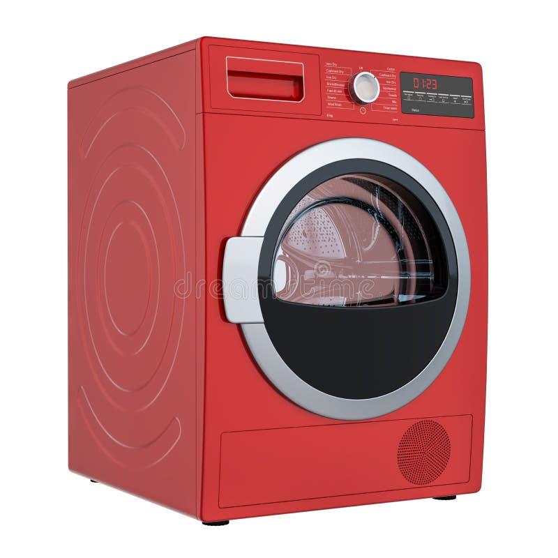 Het moderne rode kleren drogere, 3D teruggeven royalty-vrije illustratie