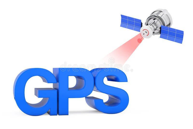 Het moderne Satelliet Uitzenden aan GPS-Teken het 3d teruggeven stock illustratie