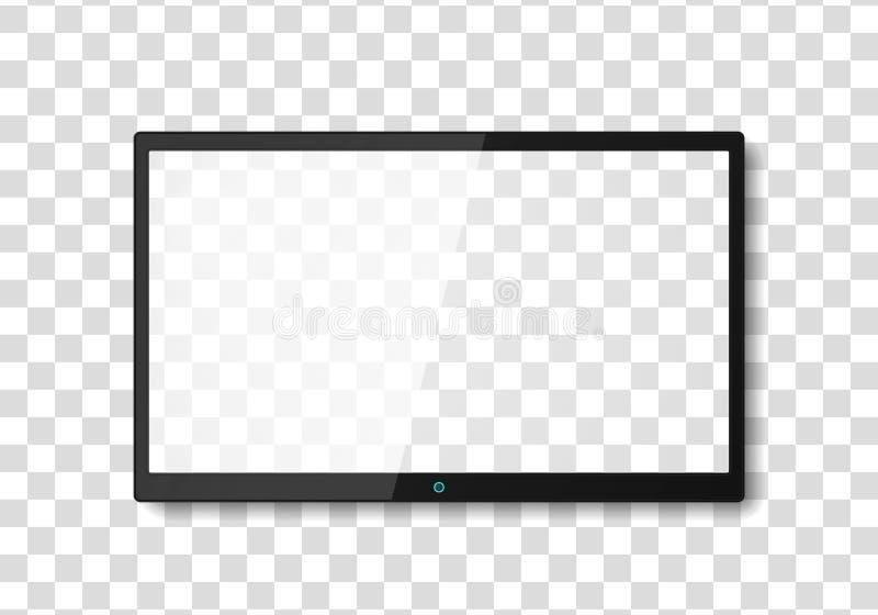 Het moderne scherm van TV royalty-vrije illustratie