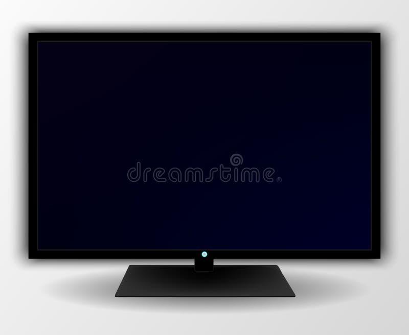 Het moderne scherm van TV vector illustratie