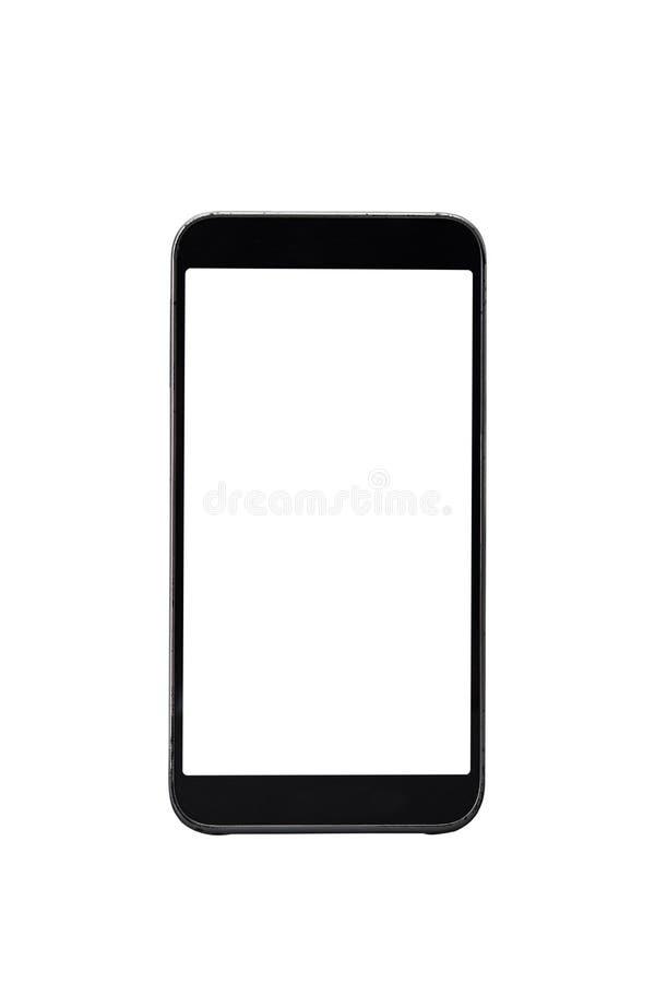 Het moderne slimme telefoon Witte scherm royalty-vrije stock fotografie